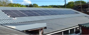 solar panels on village hall